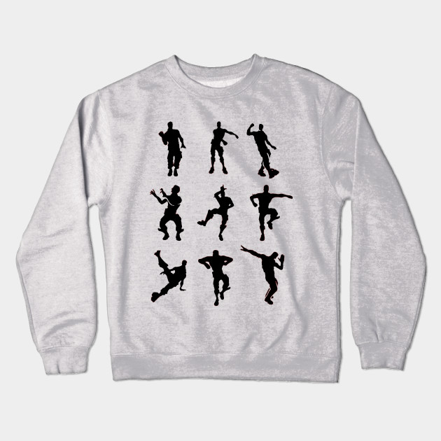 6ddc7bad Fortnite Dance Emotes - Fortnite Battle Royale - Crewneck Sweatshirt ...
