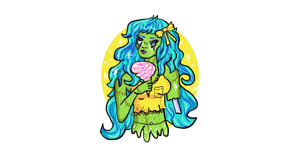 Zombie Gal Kawaii Shirt By Lunaelizabeth