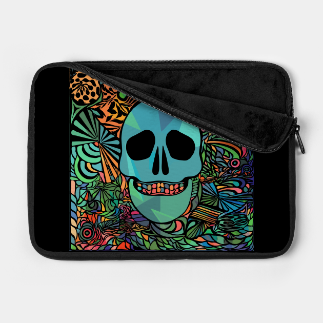 Colorful Abstract Art Skull