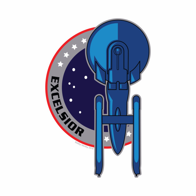 Excelsior - themed patch design
