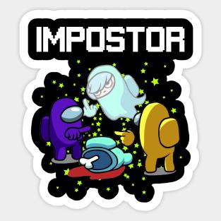 Among Us Impostor Stickers Teepublic Au