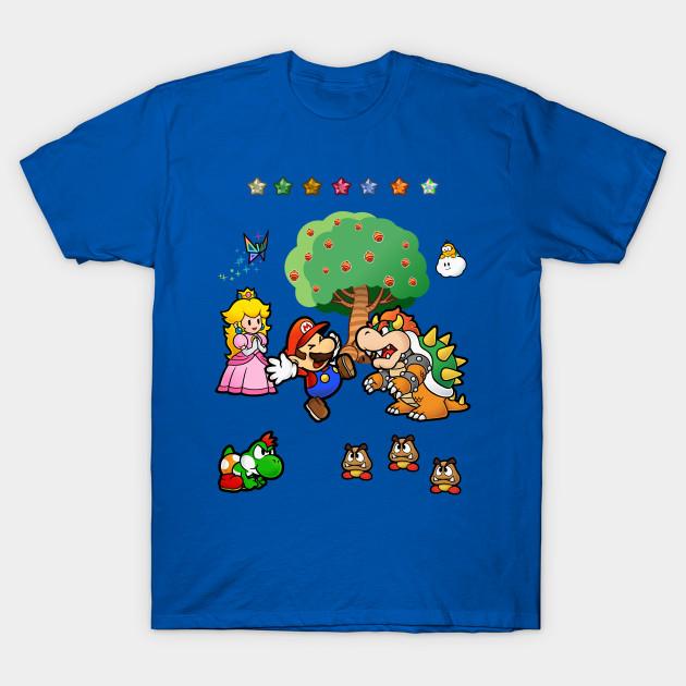 Paper Mario Scene Super Mario T Shirt Teepublic