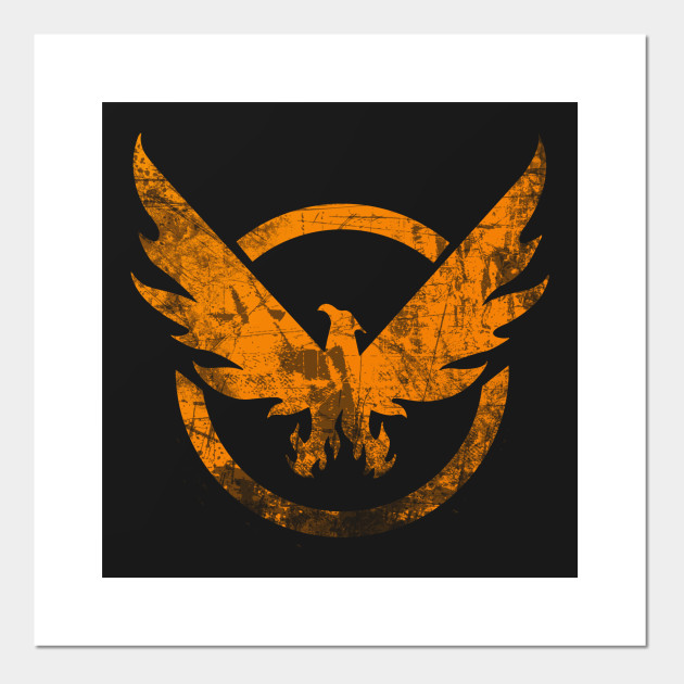 The Division - Orange Grunge Logo