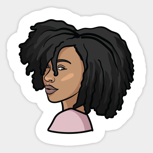 Black Woman Natural Hair Profile Black Women Art Aufkleber Teepublic De