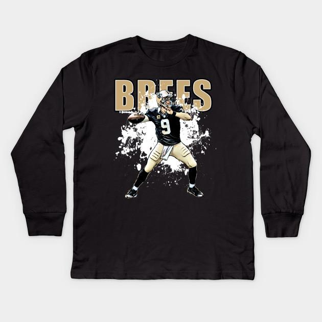 Brees Kids Long Sleeve T-Shirt. New!Back Print. Brees Brees 8cc9f58c0