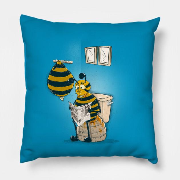honey maker bees pillow teepublic