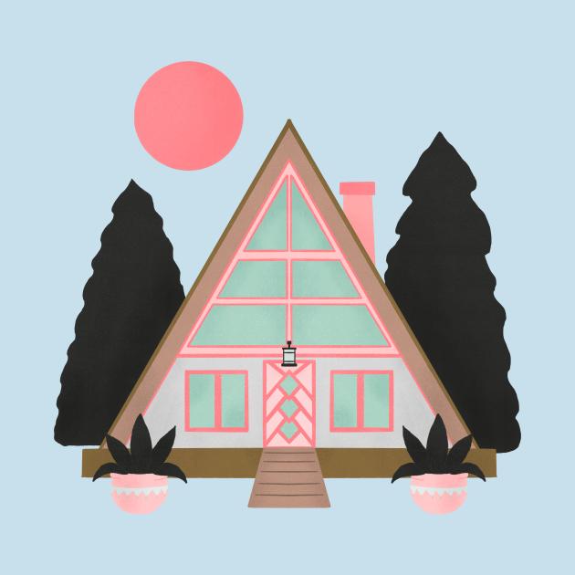 A-frame mid century modern cabin