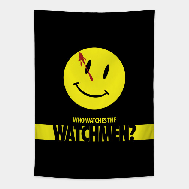 Watchmen Smiley Face - Watchmen - Tapestry | TeePublic
