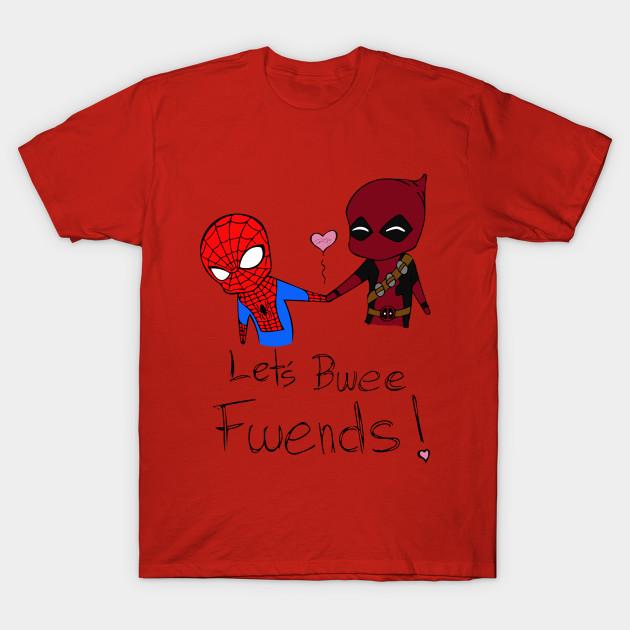 46e79d3b7946c4 Deadpool V Spiderman - Marvel - T-Shirt   TeePublic