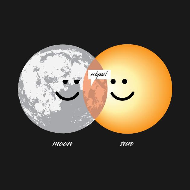 Venn Diagram Eclipse Shirt Funny Moon And Sun Eclipse Venn Diagram