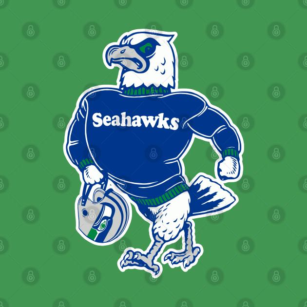 Seattle Seahawks ))(( Retro Mascot Fan Design