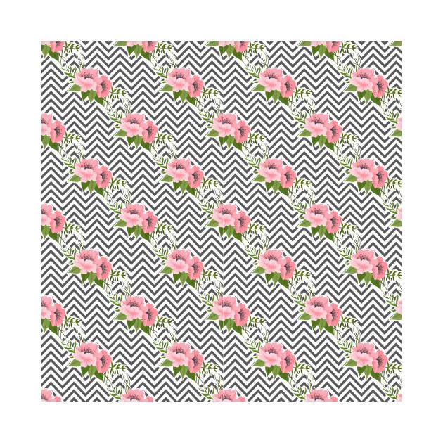 zig zag floral pattern