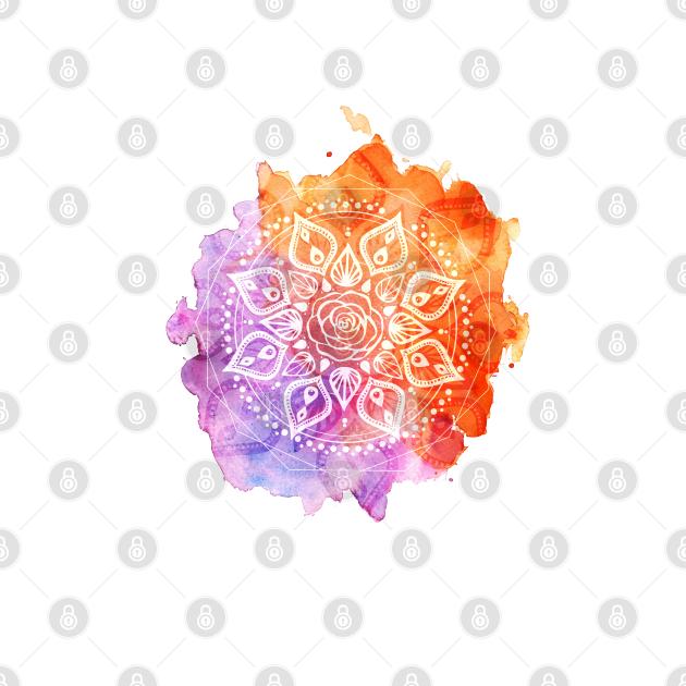 Sunset Watercolor Mandala