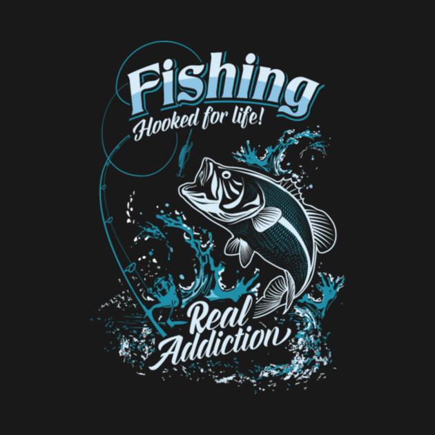Fishing hooked for life shirt fishing t shirt teepublic for Fishing logo t shirts