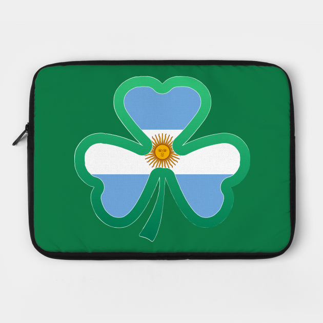 Argentina Flag for st patricks day, Irish Shamrock