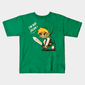 i'm not zelda kids-t-shirt