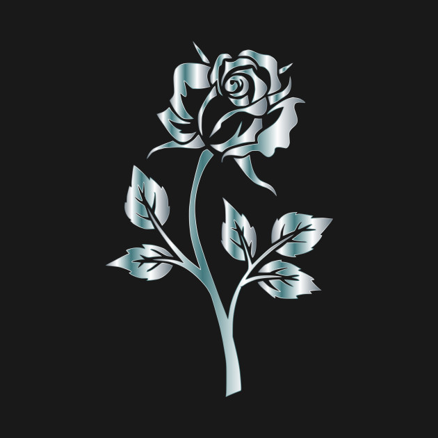 LIMITED EDITION Exclusive Silver Rose Silhouette No Background