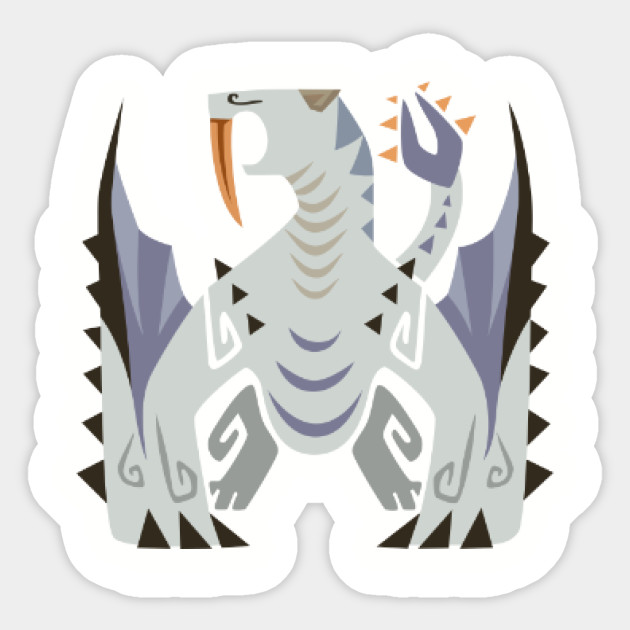 Barioth Monster Hunter World Iceborne Sticker Teepublic