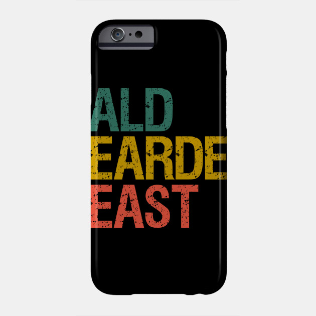 Mens Bald Bearded Beast Funny Father's Day And Christmas Gifts Funny vintage Phone Case