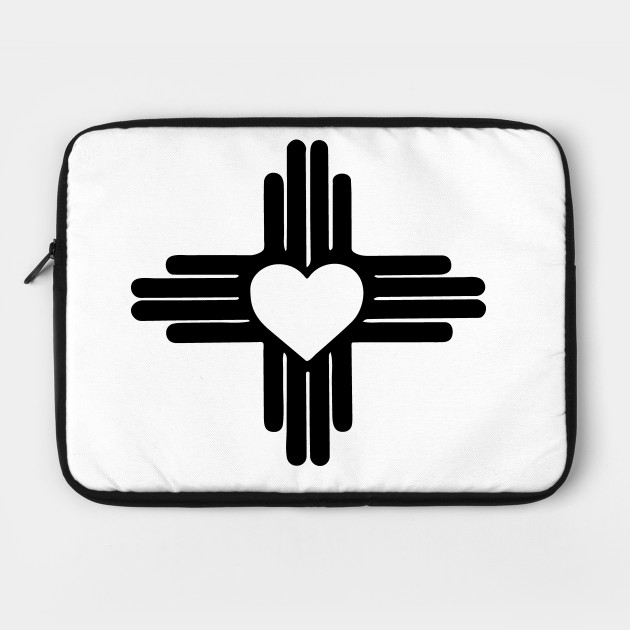Zia With Heart Symbol New Mexico State Flag Zia Laptop Case