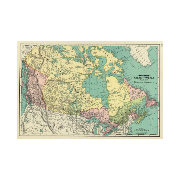 Map Of Canada Kids.Vintage Map Of Canada 1897