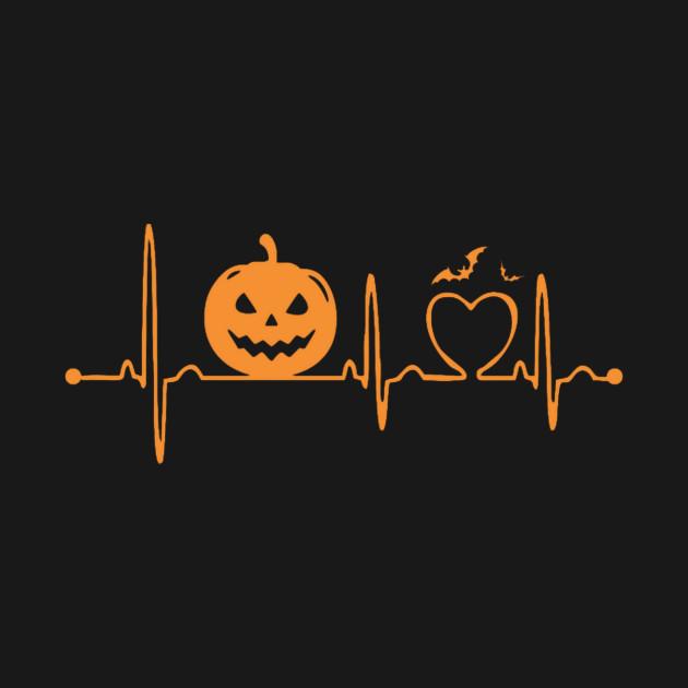 Halloween Pumpkin Heartbeat T-Shirt