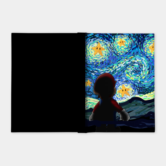 An Original Starry Night Painting Gamer Parody