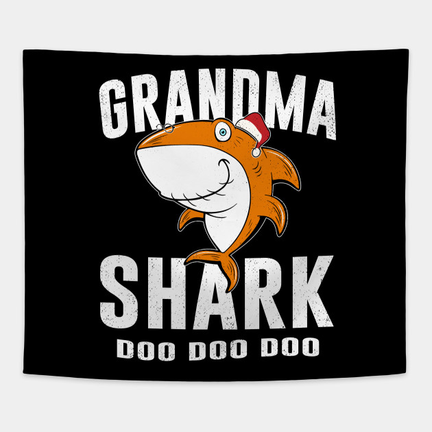 Grandma Shark T Shirt Birthday Thanksgiving Christmas Gifts Tapestry