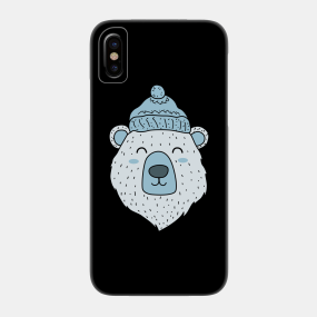 d41334eeb1 polar bear Ice Bear Icebear Winter Winter Hat gift Phone Case