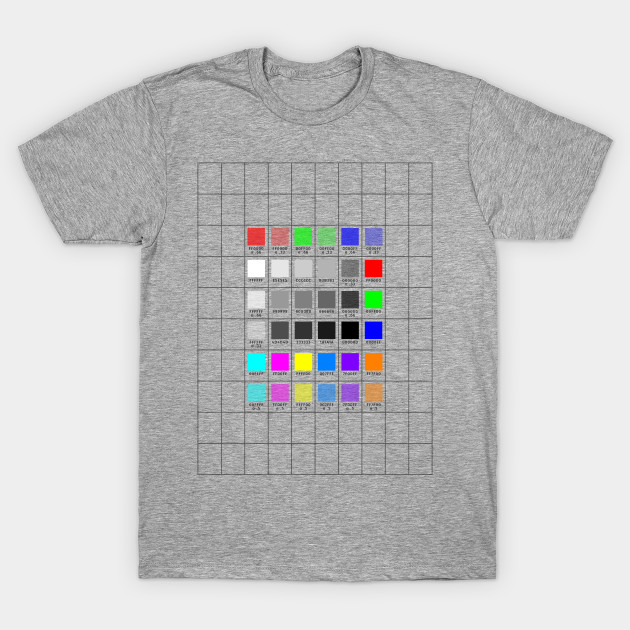 Size & Color Swatch Template - Template - T-Shirt | TeePublic