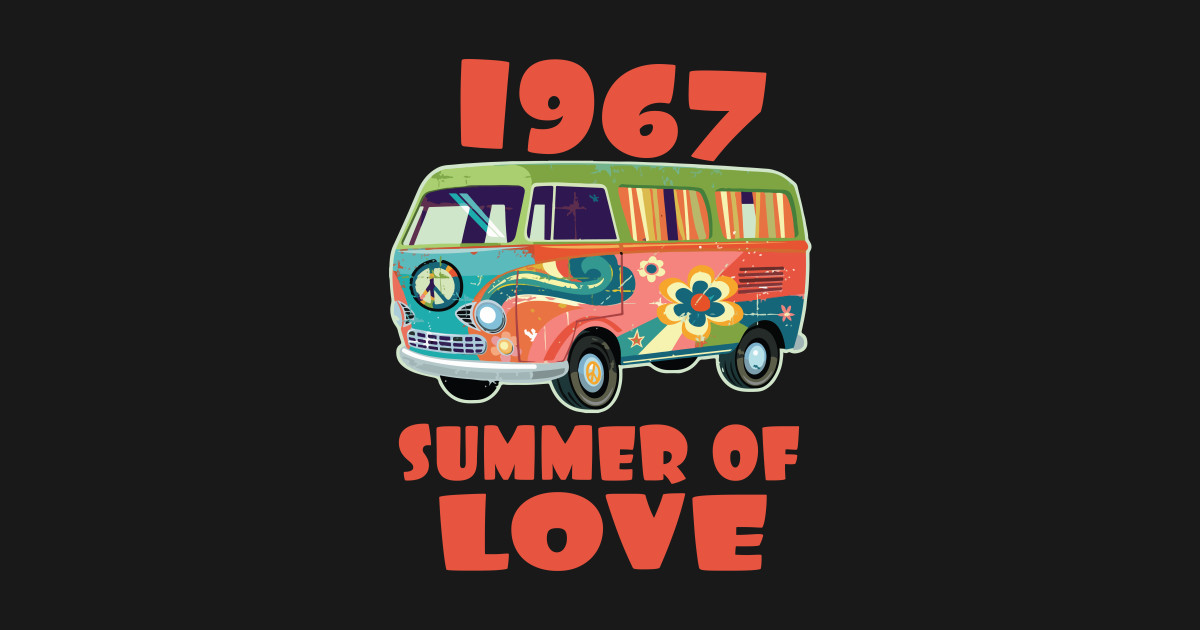 9f01c87070e 1967 Summer of Love Retro Tees Vintage Sixties Hippie Shirt by luffy12