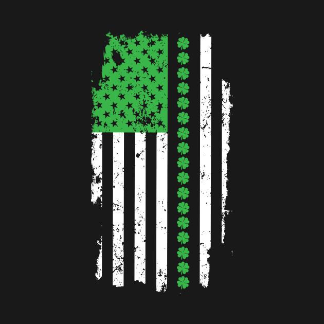 St. Patrick's Day Irish American Flag