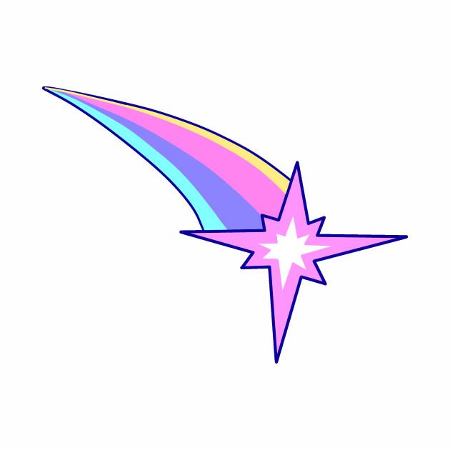 Rainbow Eight-Pointed Star