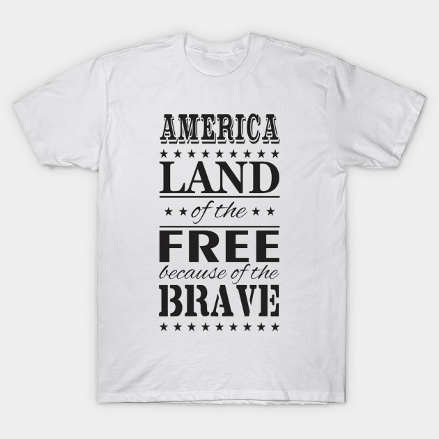 Land Of The Free Because Of The Brave Veterans Day Shirt - Veterans ... cb64ad52b