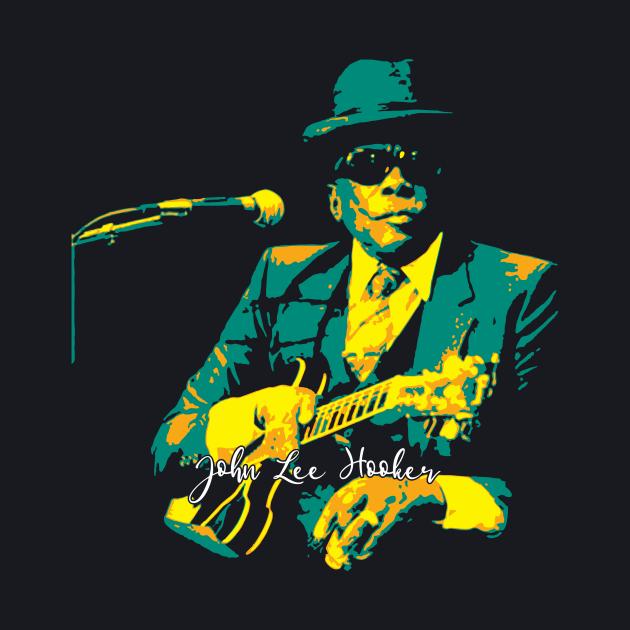 John Lee Hooker pop art. an American blues singer. songwriter. and guitarist. sharecropper.