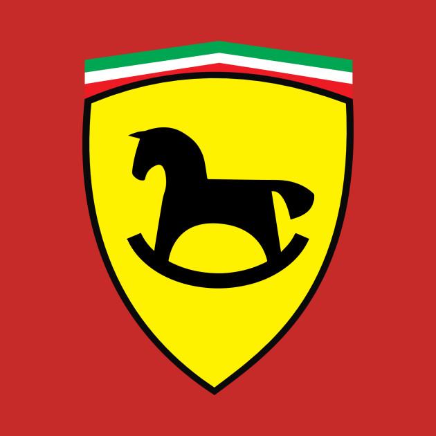 Ferrari Kids Ferrari Logo Kids Rocking Horse T Shirt Teepublic