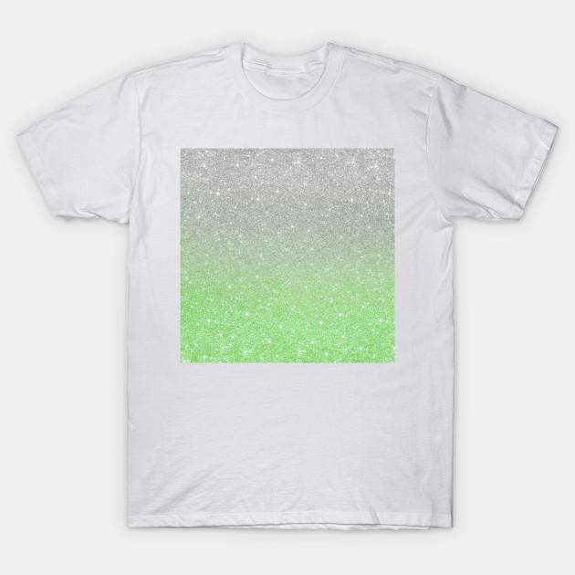 8037445fa302 Trendy Ombre Mint Green Silver Glitter - Glitter - T-Shirt | TeePublic