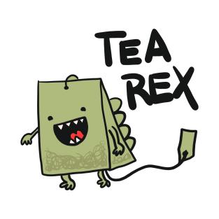 Tea Rex - Puns, Funny - D3 Designs t-shirts