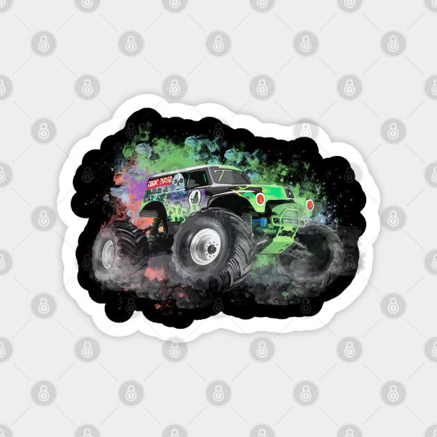 Monster Jam Water Color Art Effect Monster Jam Magnet Teepublic Au