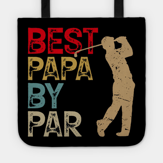 Funny Best Papa By Par Father's Day Golf Shirt Gift Grandpa