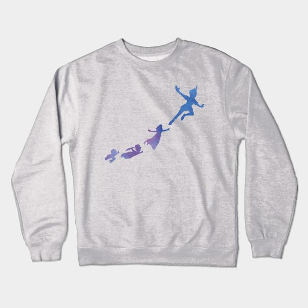 Peter Pan Silhouettes Peter Pan Crewneck Sweatshirt Teepublic