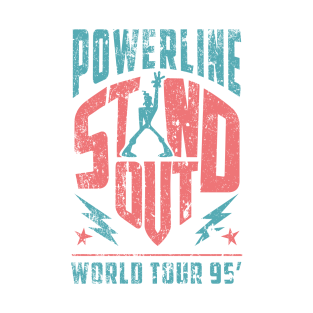 Powerline - Stand Out - World Tour 95' - Vintage Blue/Pink t-shirts