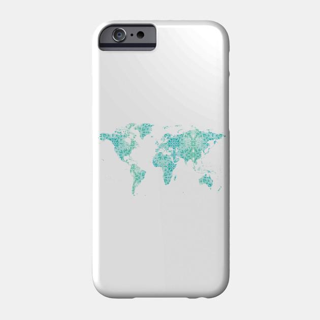 World Map Mandala World Map Phone Case Teepublic