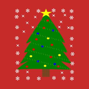 Christmas Tree with Balls Lights Ornament T Shirt Xmas t-shirts