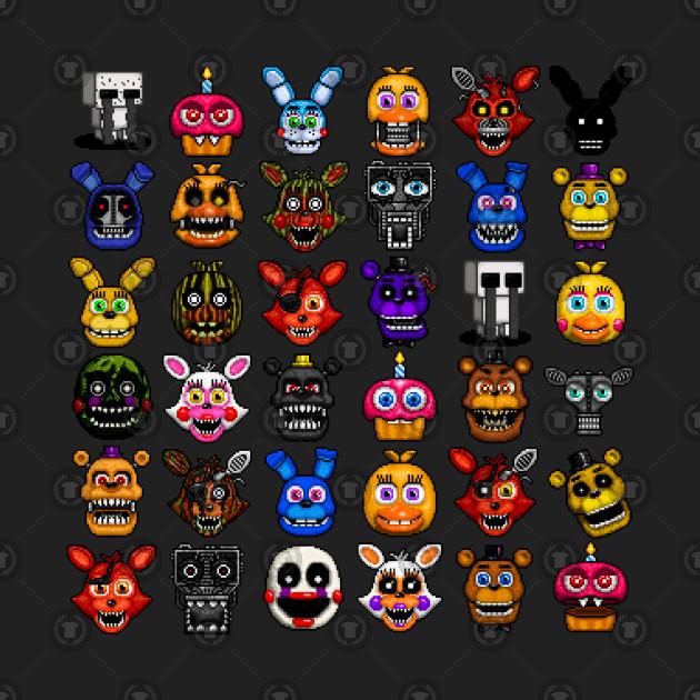 FNAF pixel art collage - Five Nights At Freddys - Torba ...