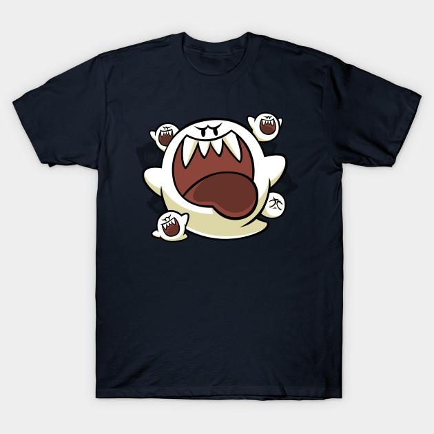 2d5b70a3 Vintage Super Mario World - Boo Ghost - Super Mario - T-Shirt ...