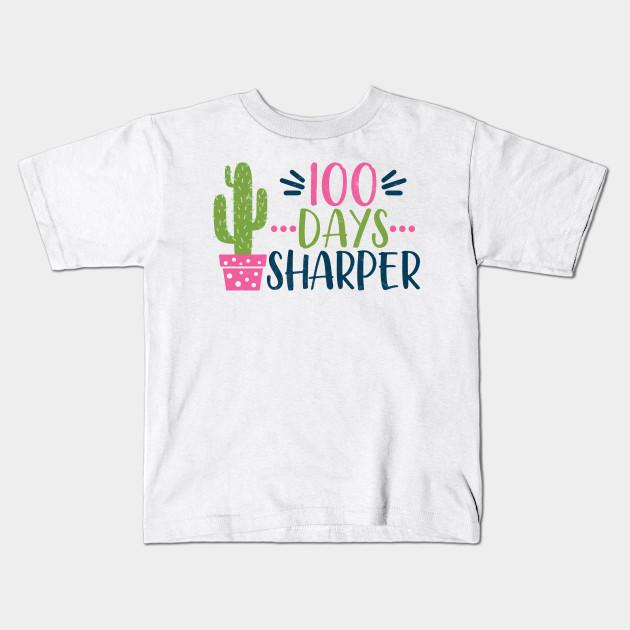 Teachers Students T-Shirt 100 Days Sharper Tee Gift