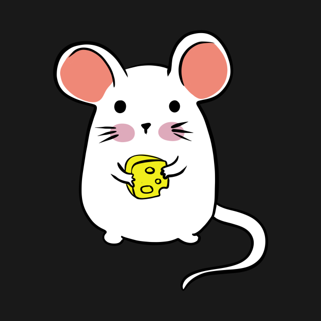 Cute mouse with cheese