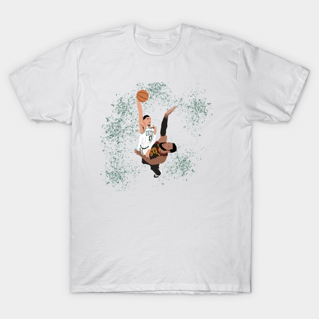 f3a2e0e7 Jayson Tatum dunk on LeBron James - Jayson Tatum - T-Shirt | TeePublic