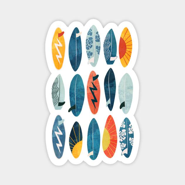 Surfboard on green